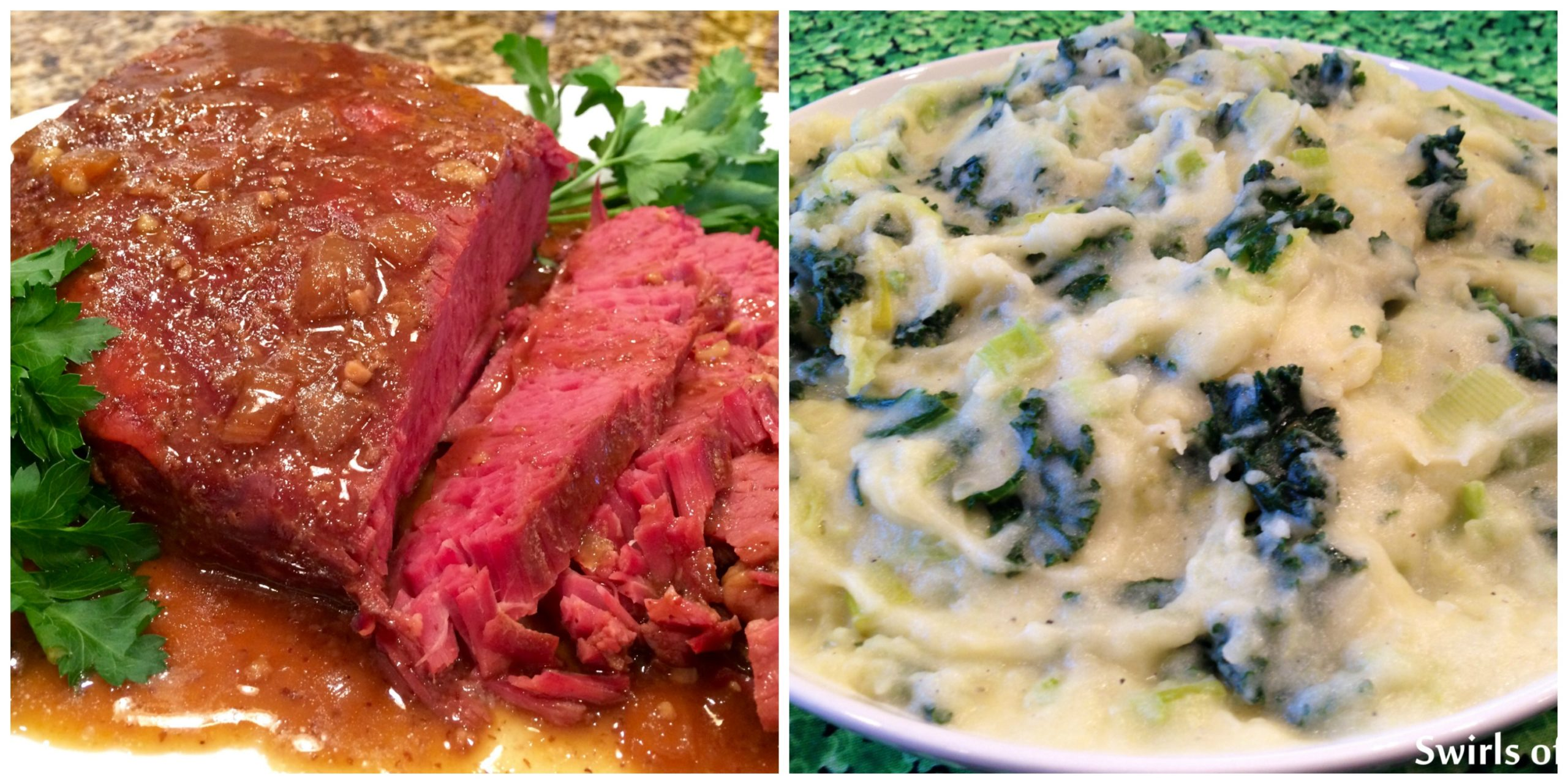 Slow Cooker corned beef and Colcannon