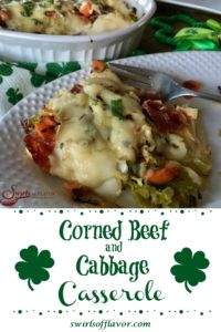 Corned Beef and Cabbage Casserole on plate