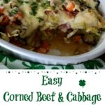 Corned Beef and Cabbage Casserole with scoop out