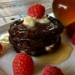 Flourless Chocolate Oat Pancakes