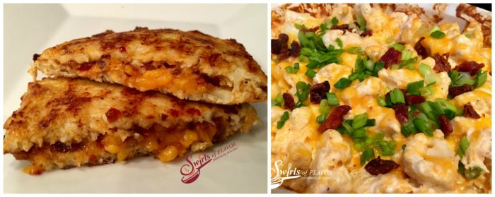 Cauliflower Grilled cheese and Laoded Cauliflower Casserole
