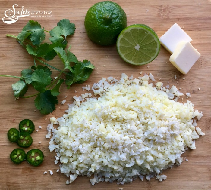 Jalapeno Lime Cauliflower Rice is bursting with the flavors of spicy jalapeno balanced with the freshness of chopped cilantro and lime juice! cauliflower | cauliflower rice | jalapeno | cilantro | gluten free | low carb | healthy