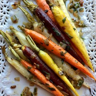 Roasted Tri-Colored Tarragon Carrots