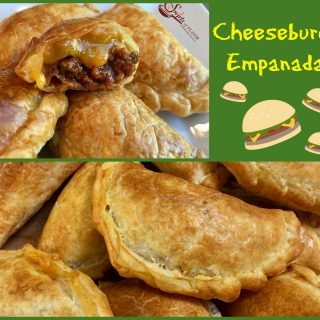 Cheeseburger Empanadas are bursting with a ground beef, ketchup and cheese filling, making them the perfect kid friendly snack!  cheeseburger | empanadas | ground beef | cheese | kid friendly | snack | appetizer | Cinco de Mayo | easy recipe | oven baked | #swirlsofflavor