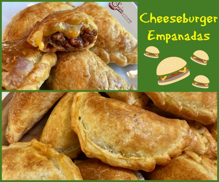 Cheeseburger Empanadas are bursting with a ground beef, ketchup and cheese filling, making them the perfect kid friendly snack!  cheeseburger | empanadas | ground beef | cheese | kid friendly | snack | appetizer | Cinco de Mayo