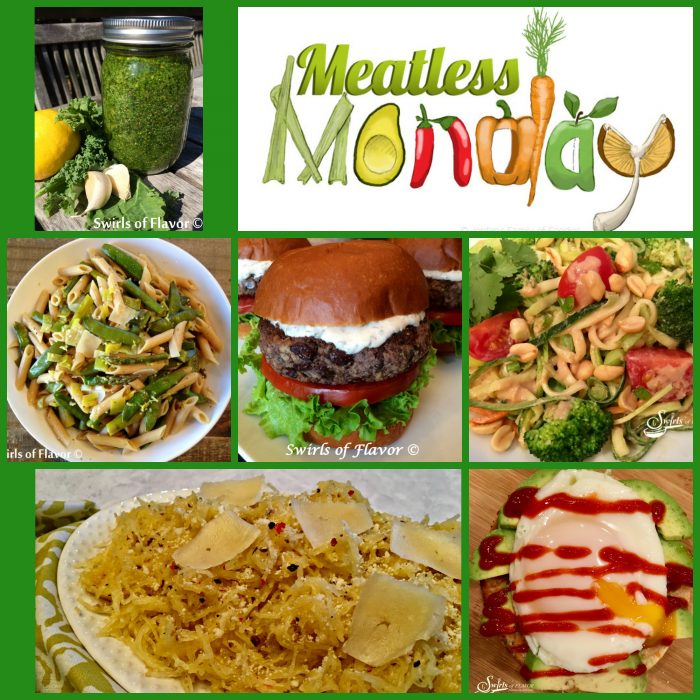 Meatless Monday Recipes! black bean burger | zucchini | zucchini noodles | zoodles | avocado toast | pesto | kale | kale pesto | spaghetti squash | meatless