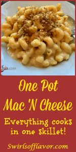 Cook your breadcrumb topping, cheesy sauce and pasta all in the same skillet! One Pot Mac 'N Cheese will be your new family favorite! macaroni | pasta | cheese |cheese sauce | macaroni and cheese | mac 'n cheese | breadcrumbs | kid friendly | dinner | Meatless Monday