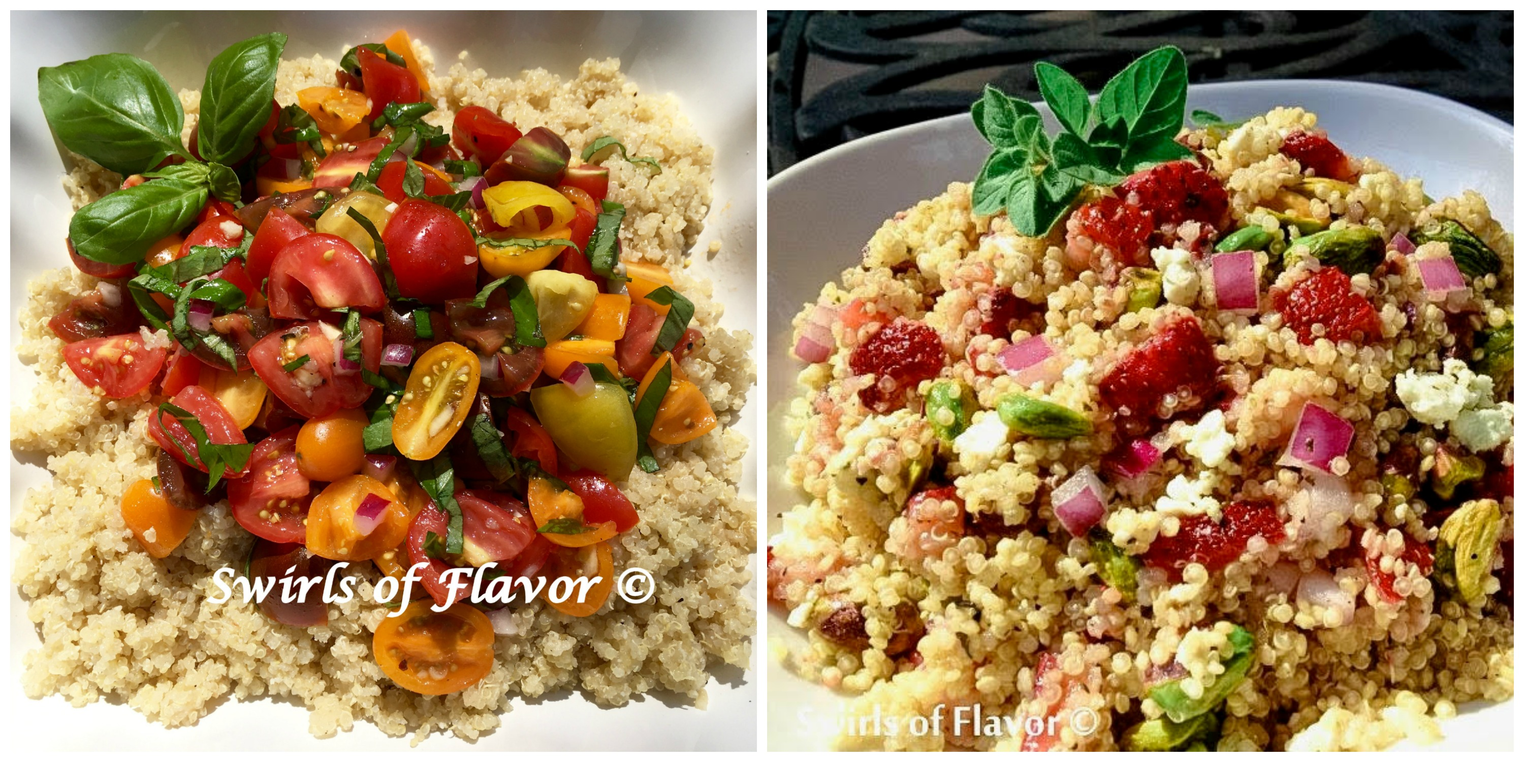 Tomato Brusschetta Quinoa and Strawberry Quinoa