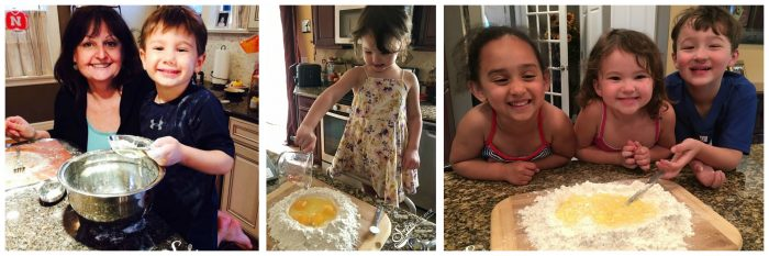 Make delicious memories with this Homemade Pasta recipe! Just 4 ingredients! pasta | homemade | homemade pasta | pasta machine | fettuccine | fun with kids | family traditions