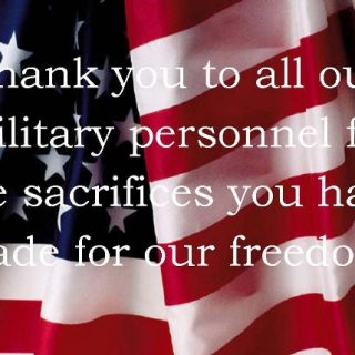 Thank you to all our military past and present this Memorial Day.