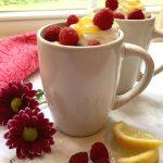 Raspberry Lemon Mug Cake