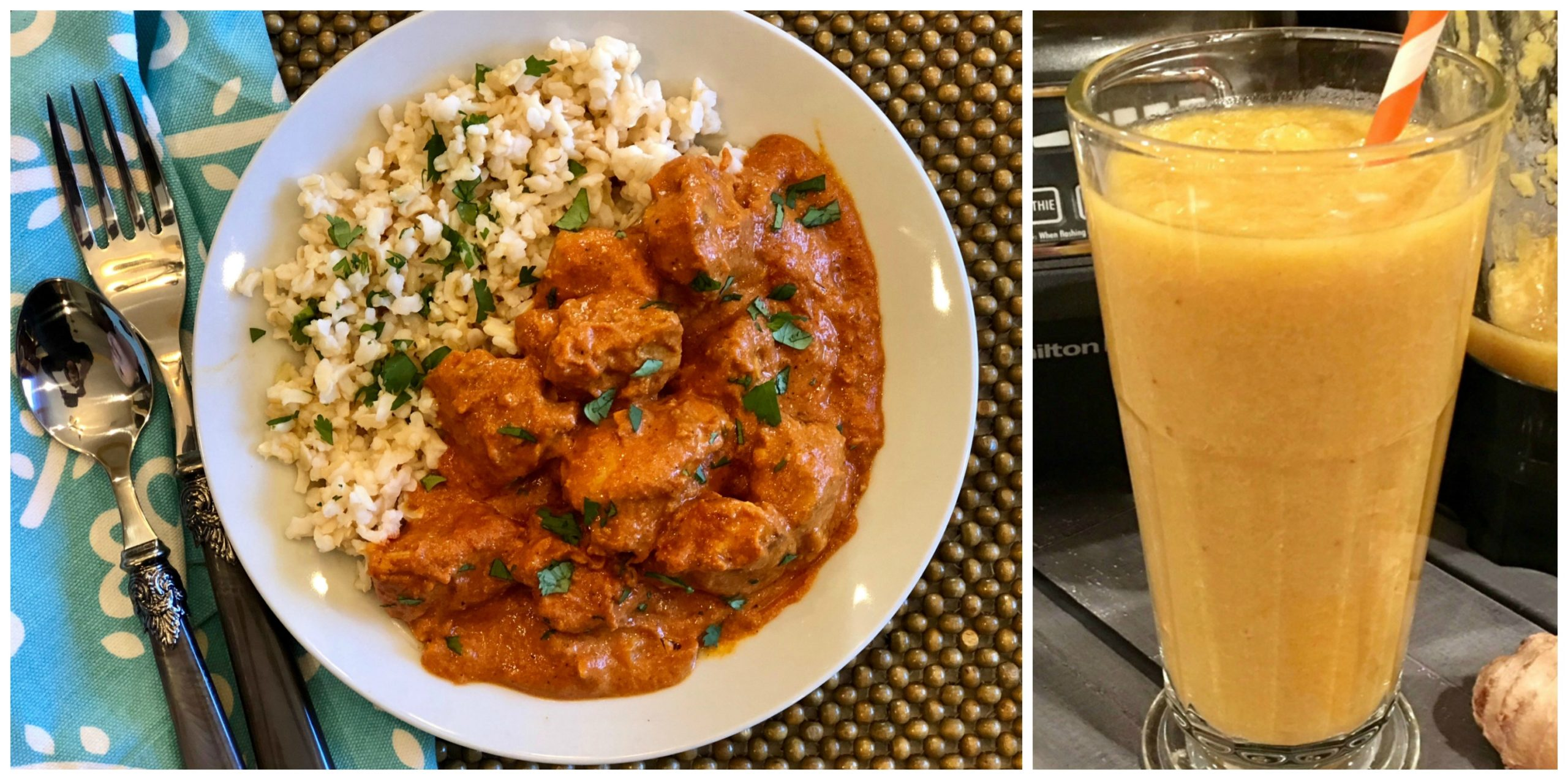 Butter Chicken and Turmeric Smoothie