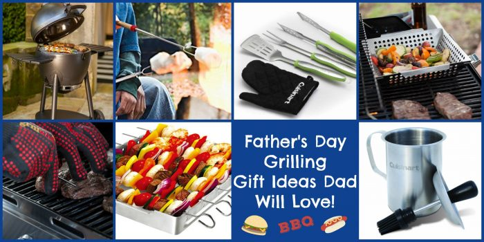 "When Dad is the ""Master of the Grill"" he not only deserves but will absolutely love any one of these grilling gifts on Father's Day! Show Dad some love hot off the grill!"