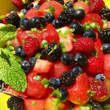 summer fruit salad with watermelon and berries