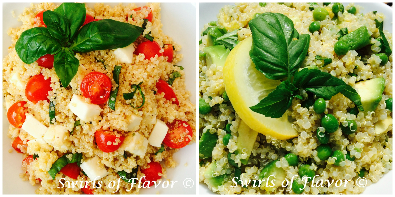 Caprese Quinoa and Avocado Lemon Quinoa