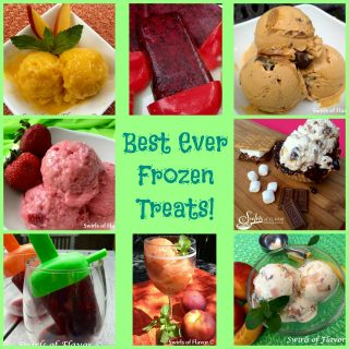 When the weather gets hot it's time to cool off with some Best Ever Frozen Treats! ice cream | sorbet | frozen yogurt | frozen desserts | wine ice pops