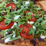 Grilled Pesto Caprese Naan Pizza