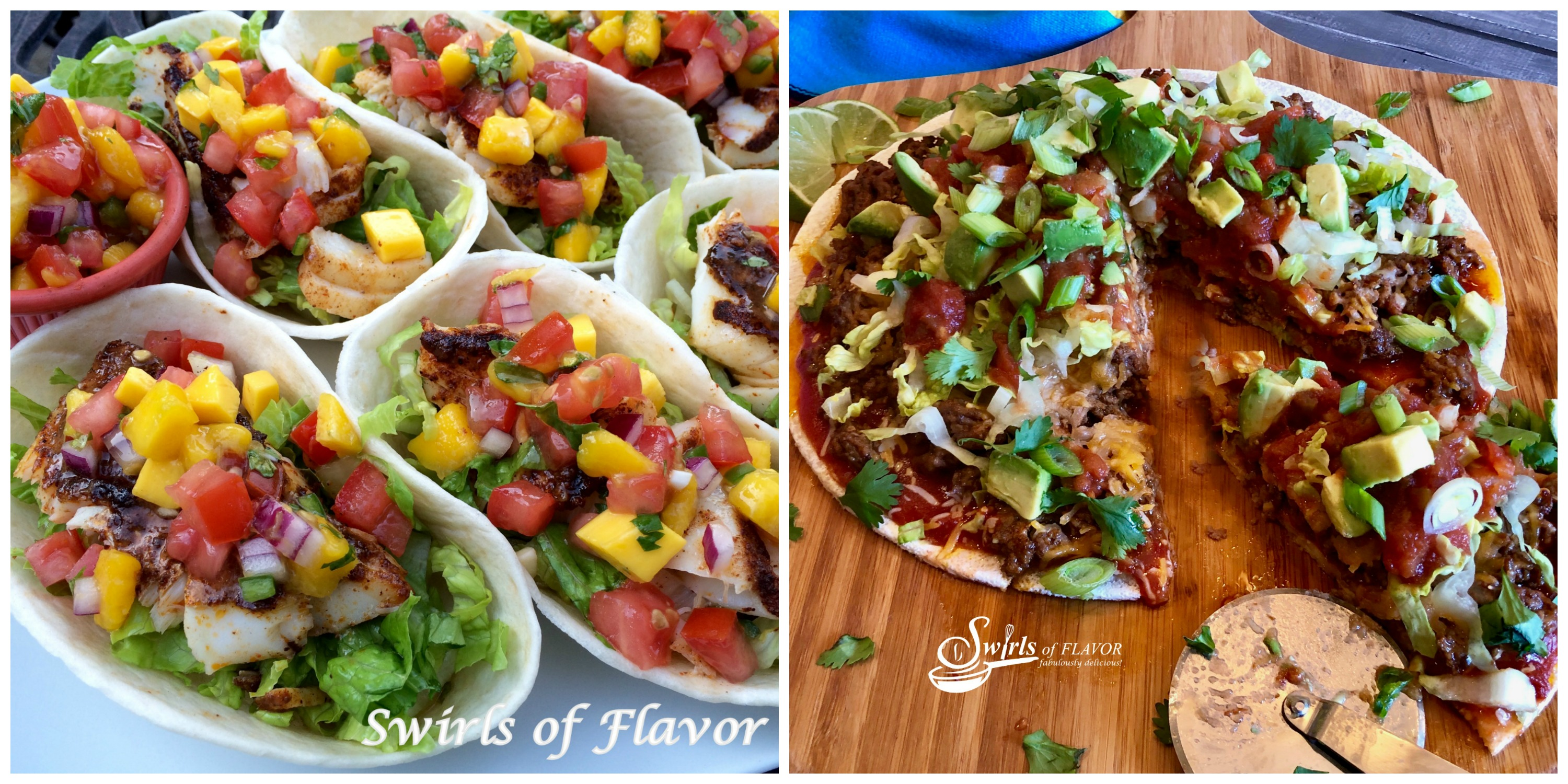 Fish Tacos and Taco Pizza