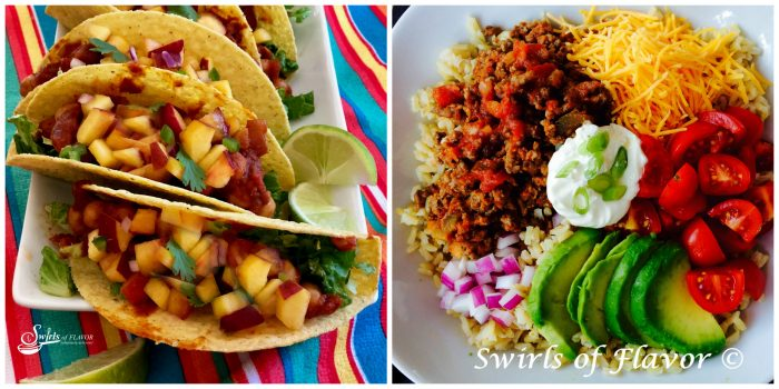 Vegan Chickpea Tacos and Taco Bowl