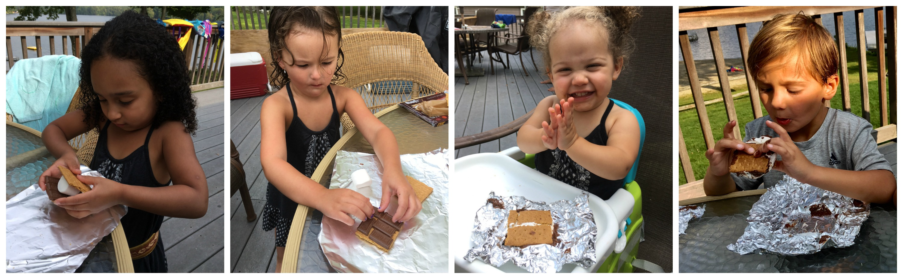 When you don't have a campfire nearby and need a S'mores, just fire up the grill for ooey gooey melty Grilled S'mores! fun for kids } dessert } grilling | chocolate | mrshmallow | graham crackers | cookies