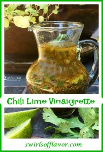 This homemade Chili Lime Vinaigrette will have your taste buds dancing as the fresh tangy flavor of lime combines with a hint of chili spice!