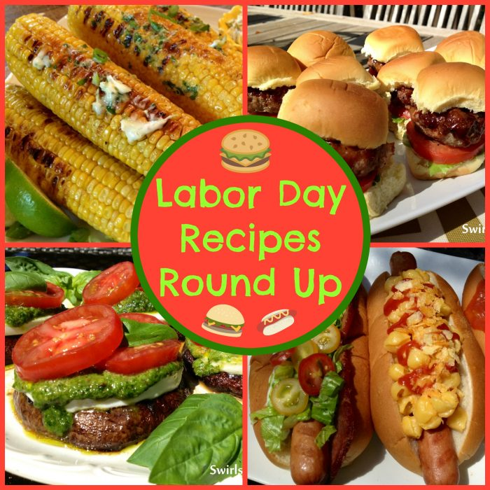 Here's an epic Labor Day Recipes Round Up for you bursting with dozens of recipes to choose from for your holiday weekend get together! Burgers, chicken, hot dogs, salads, pasta, frozen desserts, tomato recipes, blueberry recipes and of course, Grilled S'mores!
