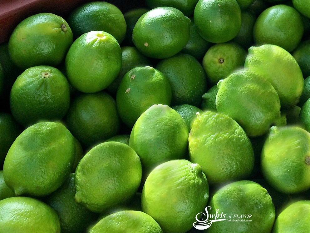 a pile of fresh limes