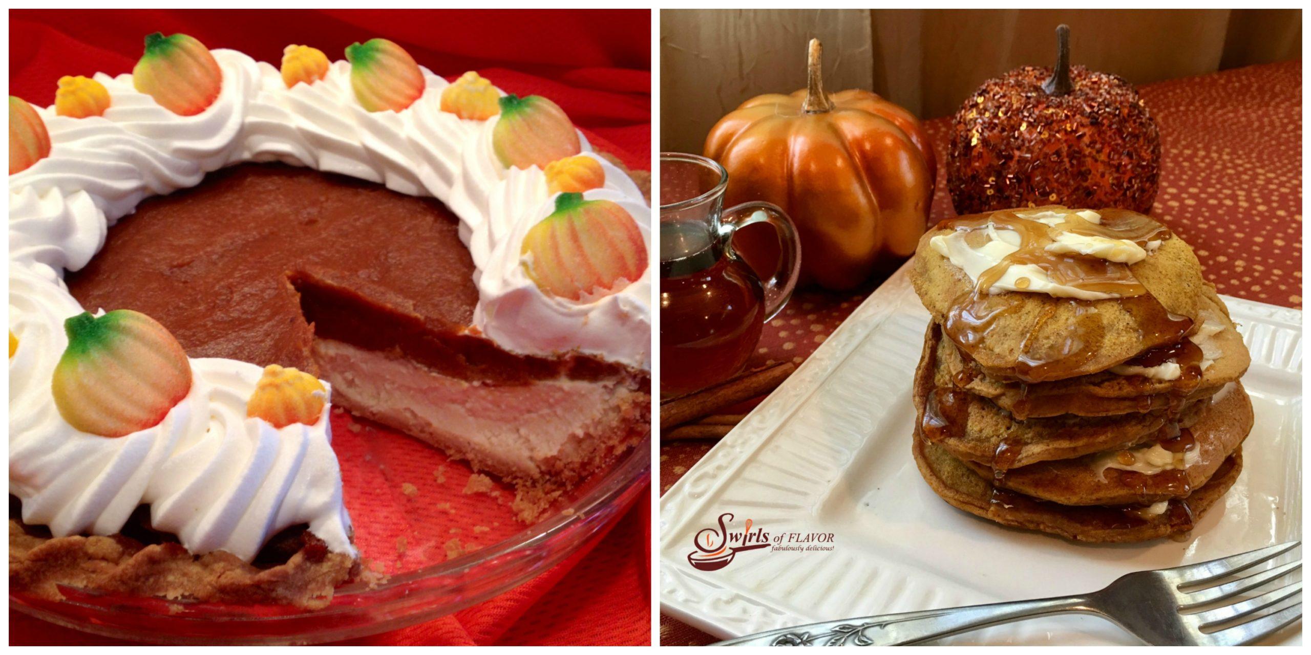Pumpkin Cheesecake Pie and Pumpkin Pancakes