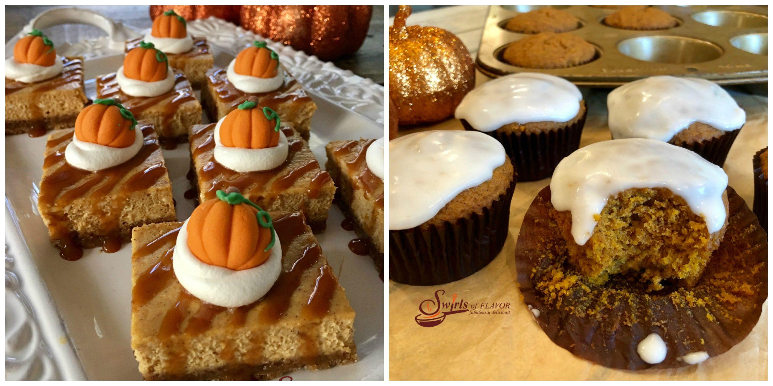 Pumpkin Cheesecake Bars and Pumpkin Muffins