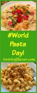 Make a bowl of pasta and celebrate #World Pasta Day today and every day! Make homemade pasta, ravioli, penne or easy one pot mac n cheese! Pasta | homemade pasta | fettuccine | ravioli | penne | dinner | pasta recipe