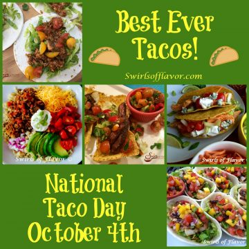 It's National Taco Day! Mke them meatless tacos, chicken tacos, beef tacos, fish tacos or even a taco rice bowl. Any taco recipe you make will be bursting with flavor! tacos | chicken | skirt steak | fish | soft taco shells | taco boats | hard taco shells | dinner | meatless | vegetarian