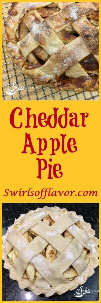 With apple season in full swing it's time to bake a Cheddar Apple Pie! Add cheddar cheese to your pie crust for a fabulously delicious apple and cheddar flavor combination! apple | pie | apple pie | baking | recipe | cheddar | cheddar cheese crust