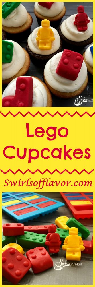 Nunjago inspired Lego Cupcakes topped with fondant legos will make the kids very happy! cupcakes |Legos | fondant | fondant Legos | cupcake toppers | fun for kids | Ninjago movie
