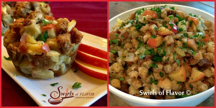 Stuffing will be so much fun this year when you make Apple Sage Stuffin' Muffins! There's Apple Fig Stuffing for the those more traditional folks!