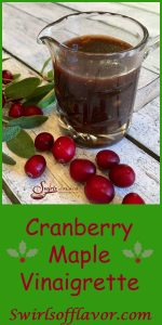 Cranberry Maple Vinaigrette combines your leftover cranberry sauce with maple syrup and balsamic vinegar for a sweet and tangy vinaigrette that compliments any salad! cranberry sauce | Thanksgiving |Thanksgiving leftovers | maple syrup | vinaigrette | homemade | salad dressing