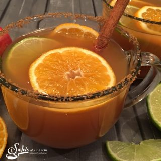 "Mulled Apple Cider warms in your slow cooker, combining apple cider with cinnamon sticks, fresh ginger and clementines, will fill your home with ""Swirls of Flavor""! Add Bourbon and sipping on Mulled Apple Cider will be a perfect way to kick off your holiday gathering. #Bourbon #applecider #mulledcider #warmdrinks #hottoddy #clementines #easy recipe #holiday #appleseason #swirlsofflavor"