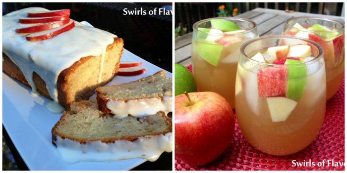 Apple Loaf Cake and Apple Cider Sangria