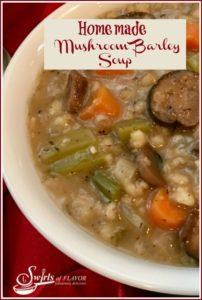 Homemade Mushroom Barley Soup