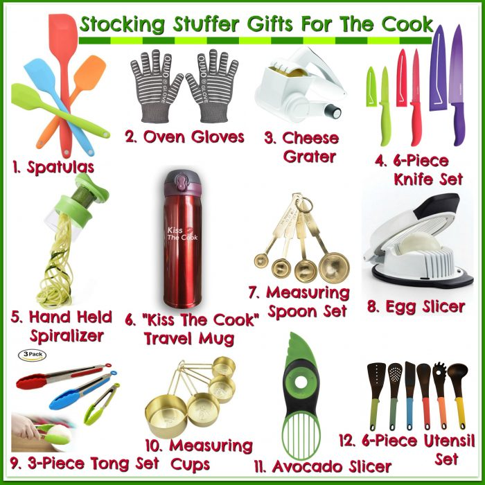 Your favorite cook will love getting these Stocking Stuffer Gifts this holiday season! gifts | gifts for the cook | kitchen gifts | kitchen gadgets