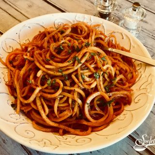 Brown Sugar Cinnamon Sweet Potato Noodles
