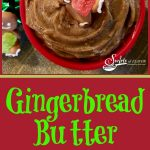 With just a few ingredients, Gingerbread Butter will make your waffles, pancakes and bagels taste truly seasonal and gourmet on Christmas morning! Cinnamon, ginger, nutmeg and cloves combine with molasses and butter to make this flavorful compound buttera perfect recipe for the holidays! #gingerbread #flavoredbutter #spices #Christmas #holiday #breakfast #brunch #cinnamon #ginger #cloves #molasses #nutmeg #recipe #swirlsofflavor