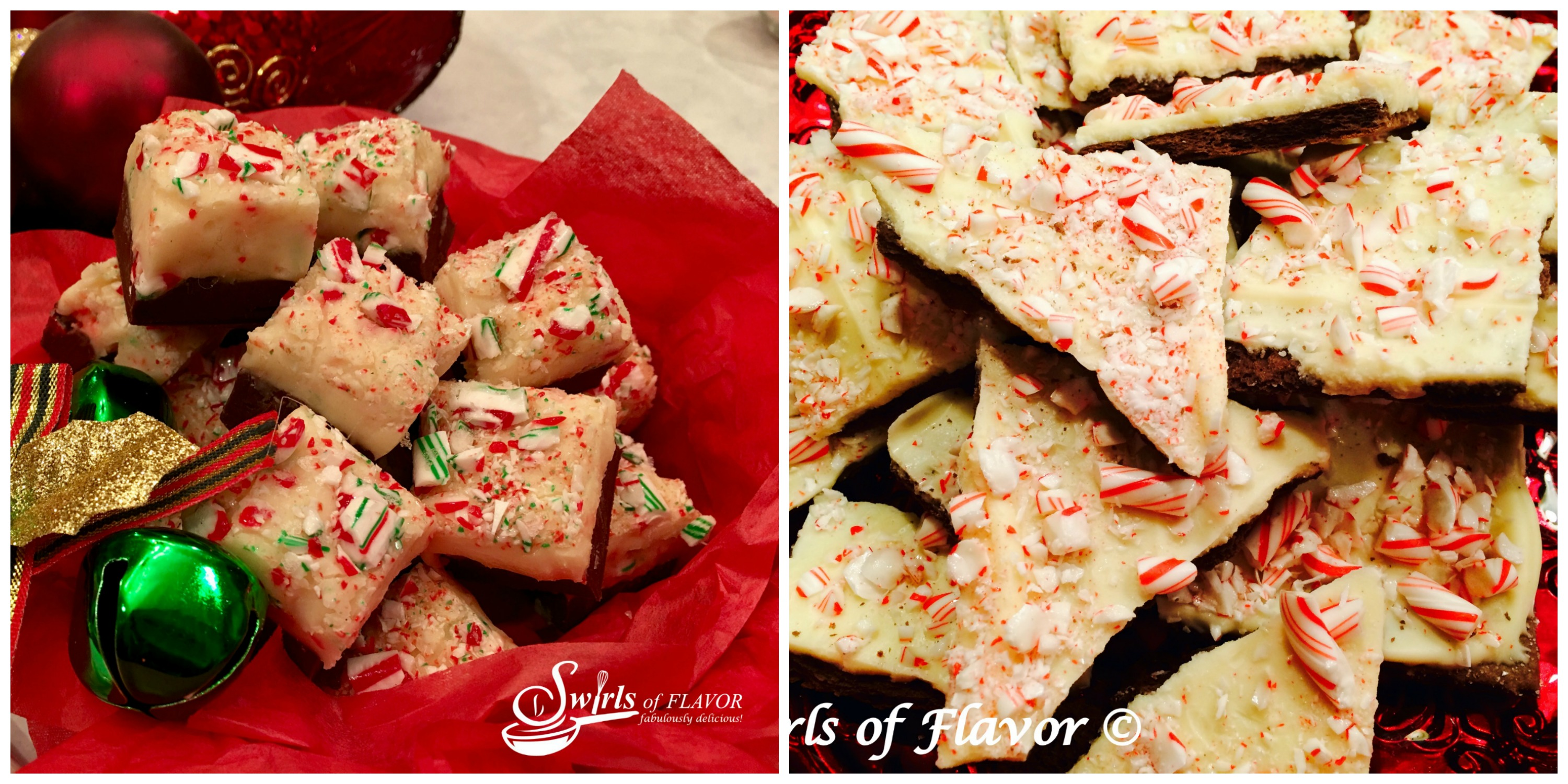 Candy Cane Fudge and Peppermint Bark