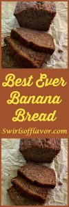 Best Ever Banana Bread is made in one bowl with basic ingredients you most likely have on hand in your kitchen! bananas | banana bread | easy | one bowl | best ever | ripe bananas | quick