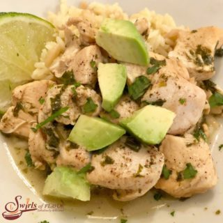 Bowl of Instant Pot Cilantro Lime chicken