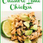 cilantro lime chicken with avocado