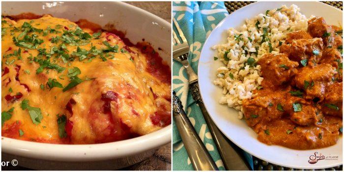Salsa Chicken and Indian Chicken