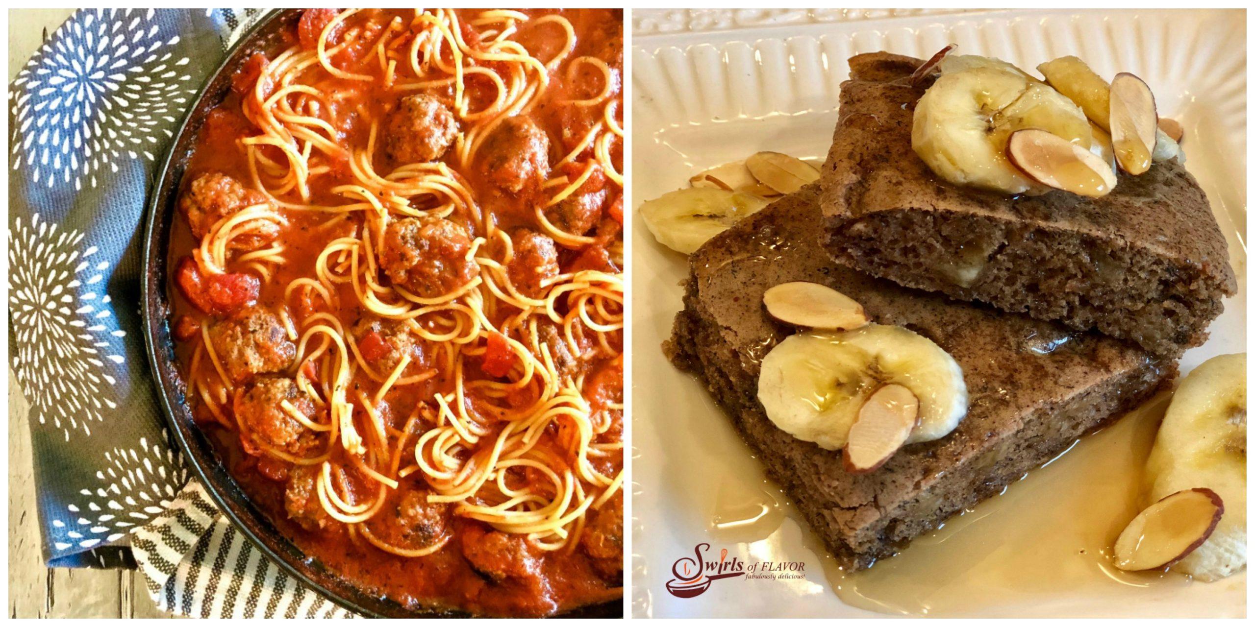 Spaghetti and Meatballs and Banana Pancakes