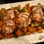 Sheet Pan Balsamic Chicken Thighs, Brussel Sprouts & Sweet Potatoes