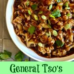 General Tso's Cauliflower will replace your Chinese take out! A silky sauce seasoned with fresh ginger, garlic and red pepper flakes, for just a touch of heat, surrounds tender cauliflower for the perfect meatless meal. #MeatlessMonday #vegetarian #Chinese #recipe #easyrecipe #dinner #sidedish #vegetable #swirlsofflavor