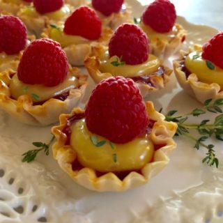 No Bake Raspberry lemon Tartlets